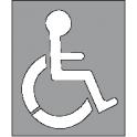 Pochoir Handicap hauteur 600 largeur 500mm  Alu
